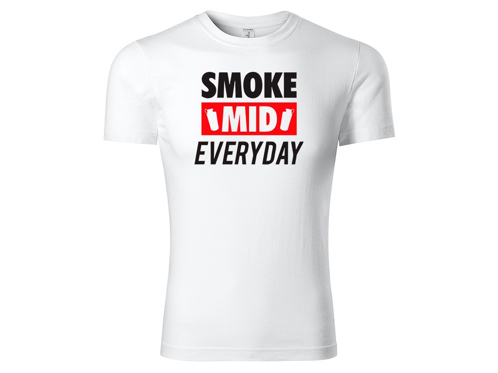 Tričko Smoke MIND White CLASSIC MOCK UP