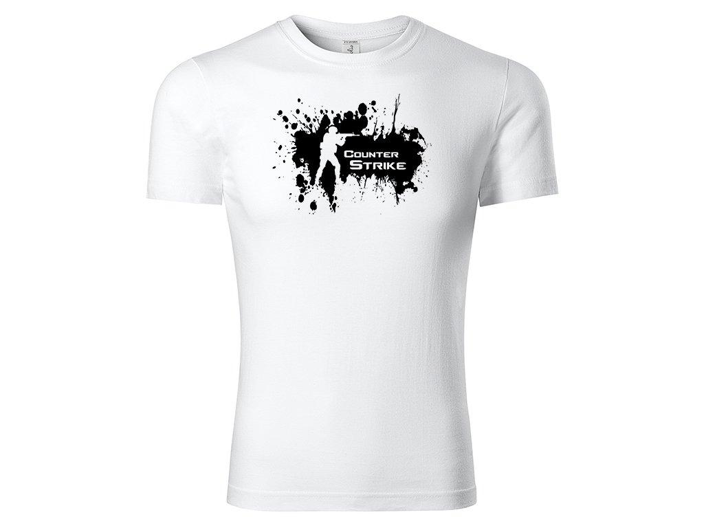 Tričko Counter Strike Splash bílé