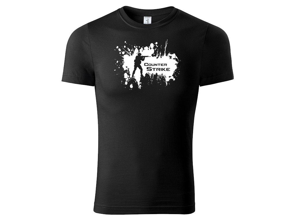 Tričko Counter Strike Splash černé