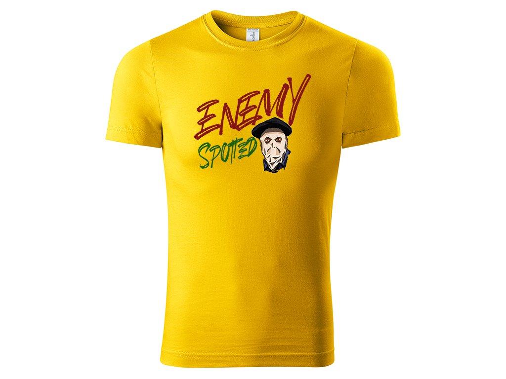 Tričko Enemy Spotted žluté
