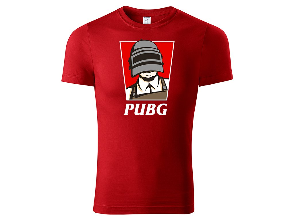 Tričko PUBG KFC Edition červené