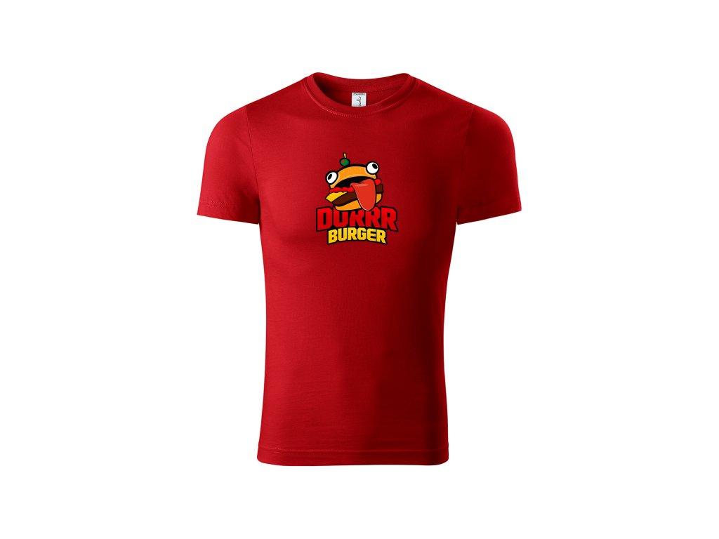 Dětské tričko Durrr Burger - červené