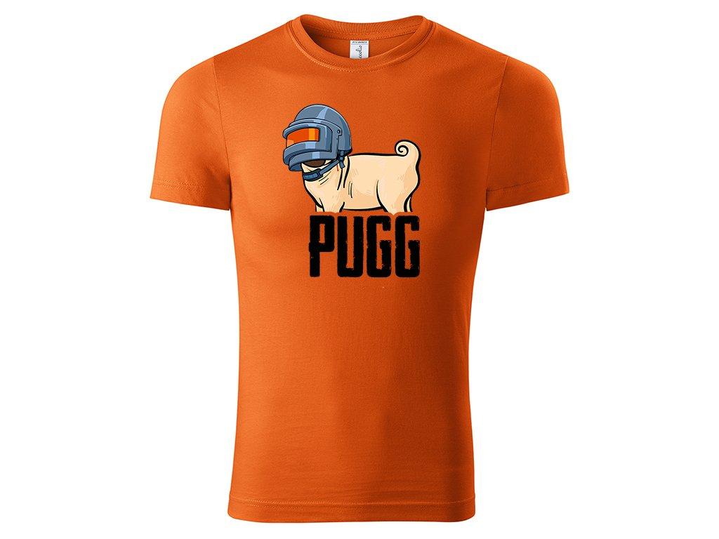 Tričko PUGG oranžové