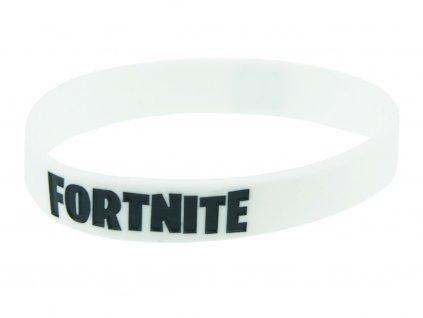 Silikonový náramek Fortnite - bílý