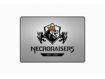 NECRORAISERS ŠEDÁ Podložka 45 a 90 mock up