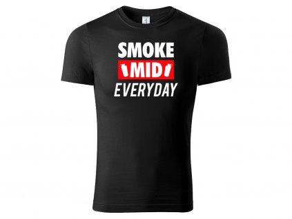Tričko Smoke Mid Everyday černé