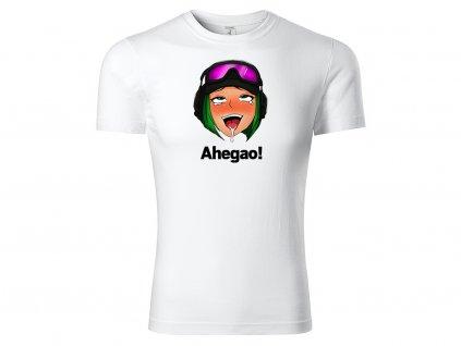 tričko Ahegao! bílé