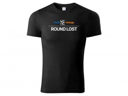 tričko fuze round lost černé
