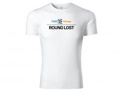tričko fuze round lost bílé