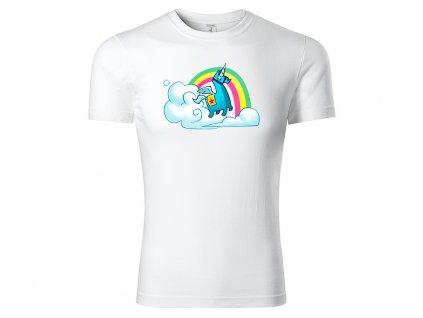 Tričko Rainbow Lama bílé