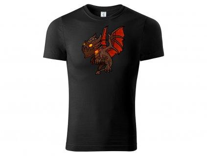 Tričko Chibi Deathwing černé