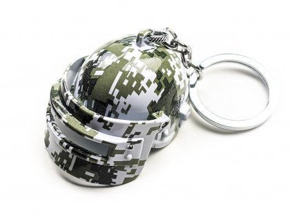 Klíčenka PUBG Helma - Digital Camo
