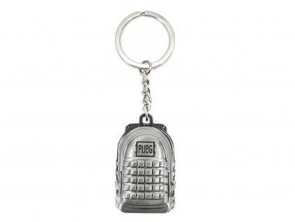 Přívěsek na klíče PUBG Batoh stříbrný