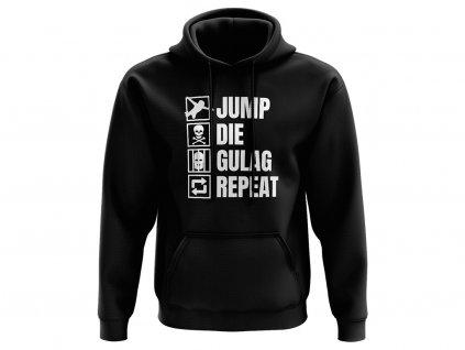 Jump Die Gulag Repeat mikina na web