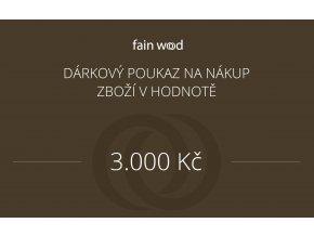 Dárkový voucher 3000 Kč
