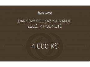 Dárkový voucher 4000 Kč
