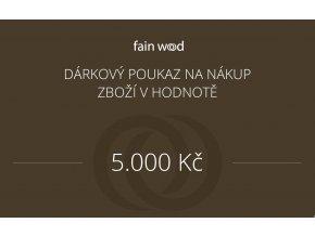 Dárkový voucher 5000 Kč
