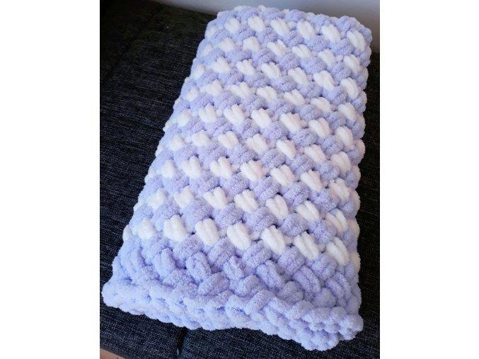 dětská deka pletená fialová