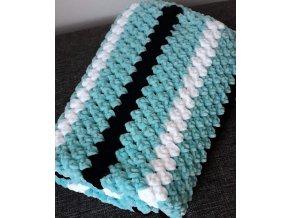 háčkovaná dětská deka  modrá