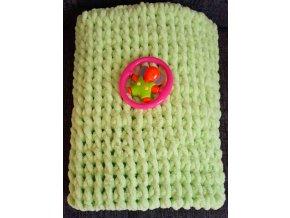 dětská deka pletená zelená