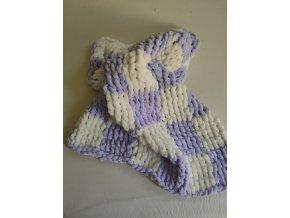 dětská deka pletená  smetanová