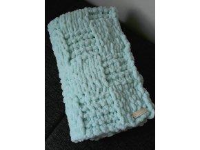 pletená dětská deka  mentolová