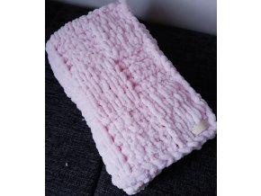 dětská deka pletená růžová