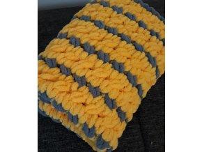 pletená dětská deka  žlutá