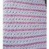 pletená dětská deka   šedorůžová