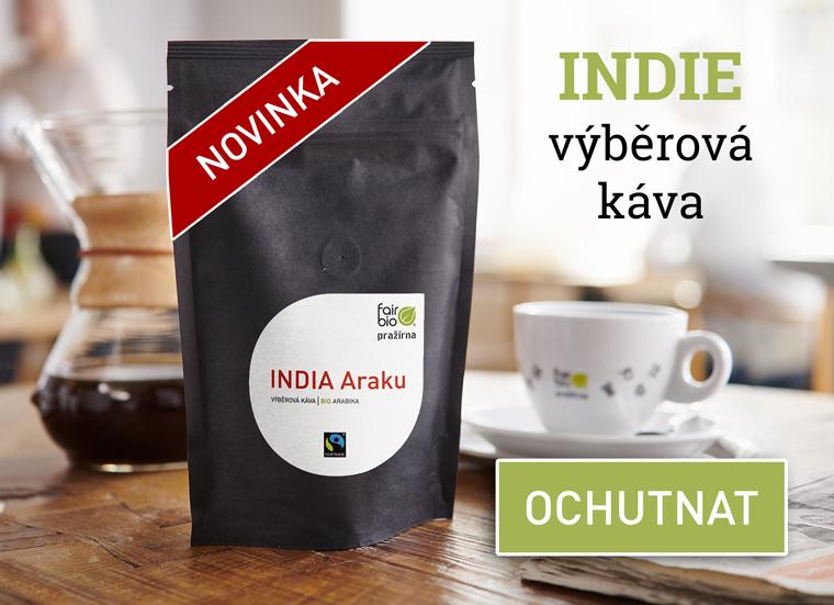 Novinka - výběrová káva Indie Araku