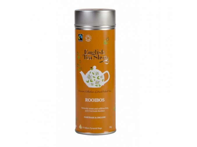 bio fairtrade rooibos cisty plechovka