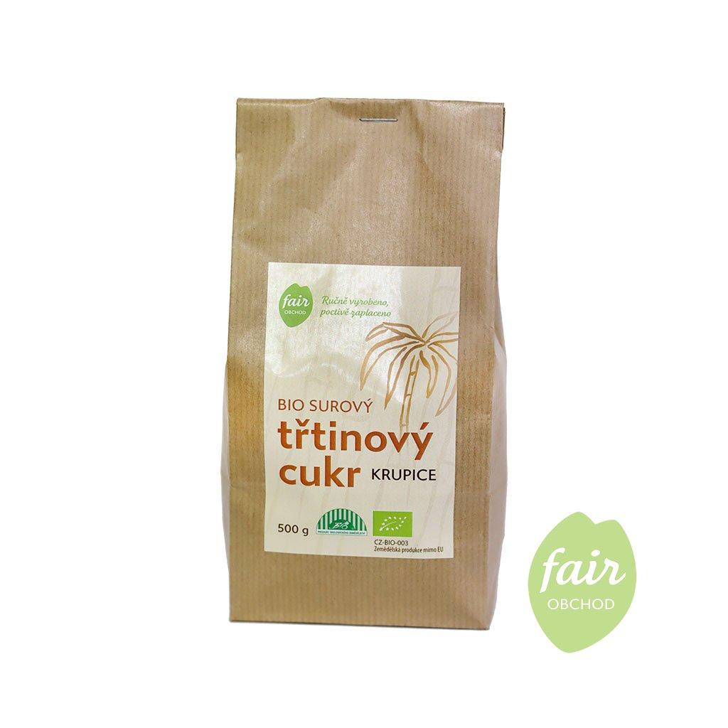 Fair trade bio třtinový cukr z Paraguaye, 500 g