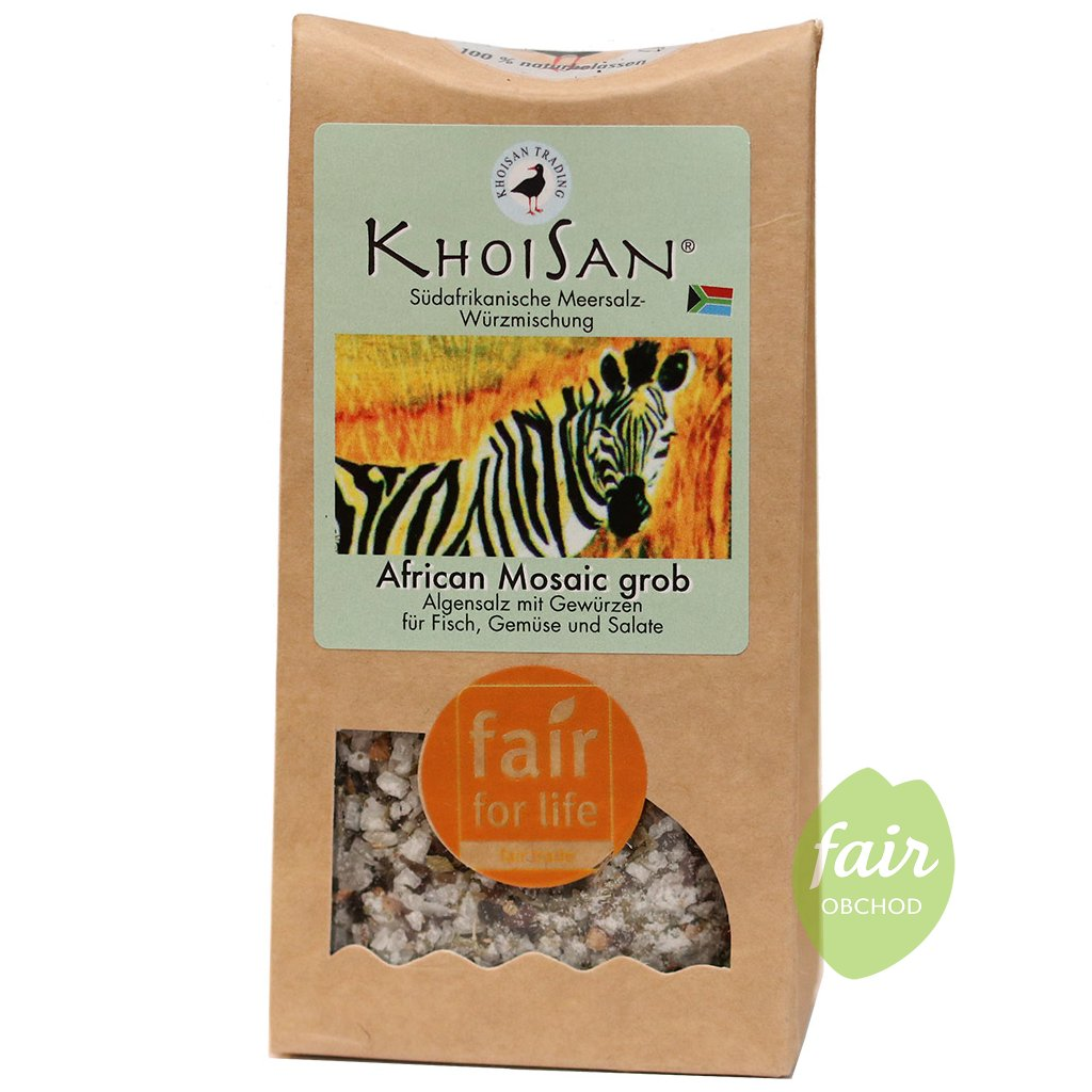 fair trade khoisan bylinna morska sul africka mozaika hruba 125g