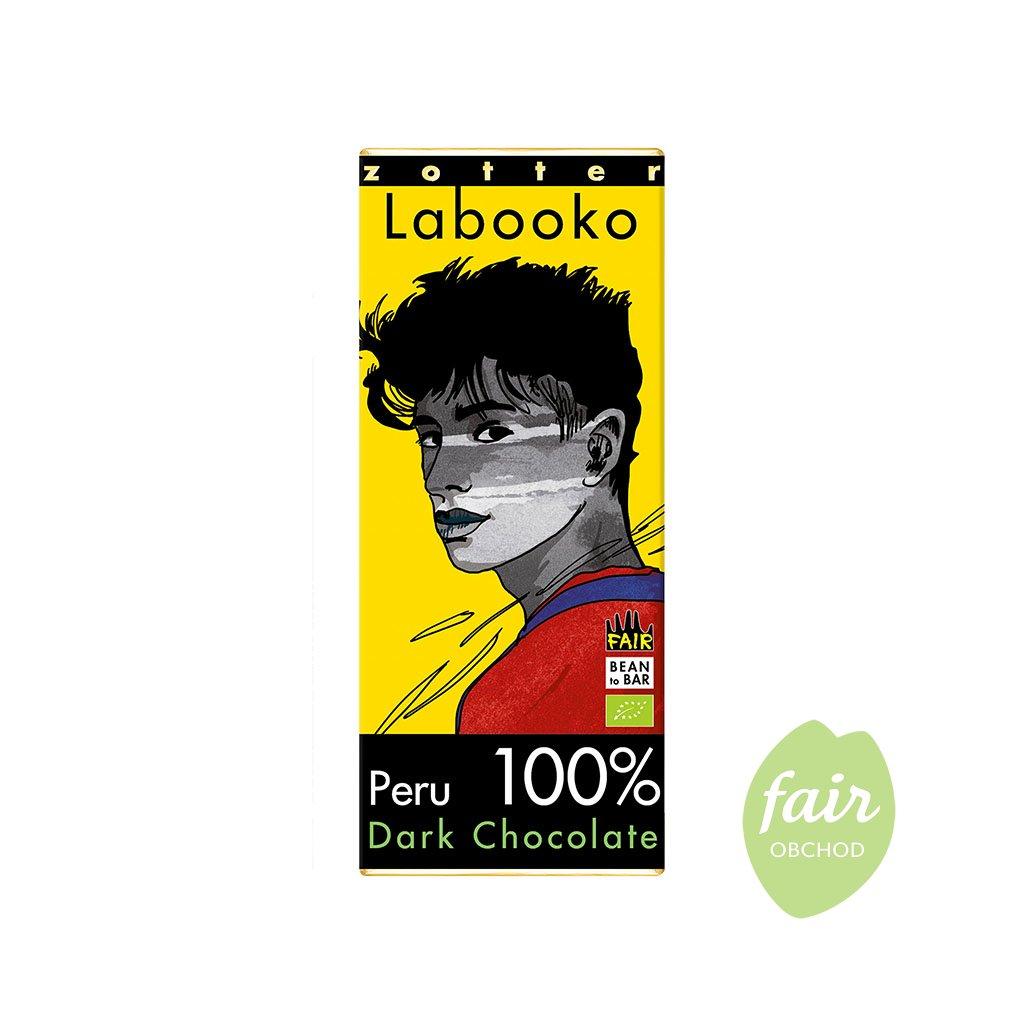 Fair trade bio hořká čokoláda Zotter Peru 100 % kakaa