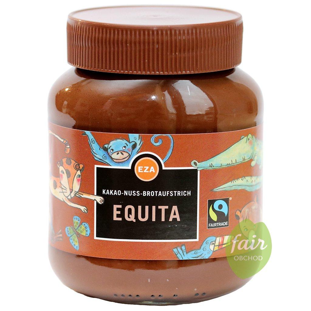 fairtrade oriskovy cokoladovy krem pomazanka bez lepku equita 400g