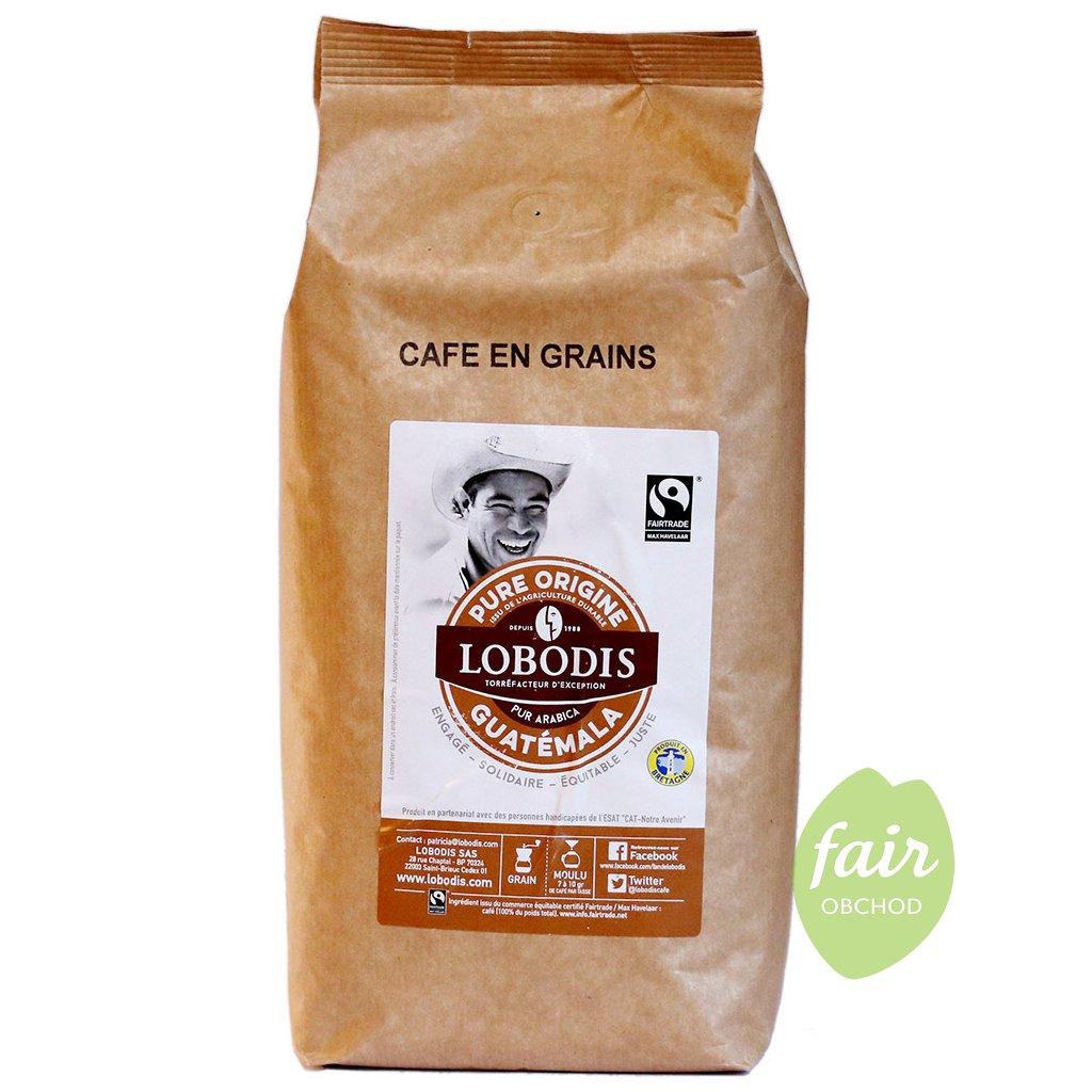 fairtrade zrnkova kava guatemala 1000g
