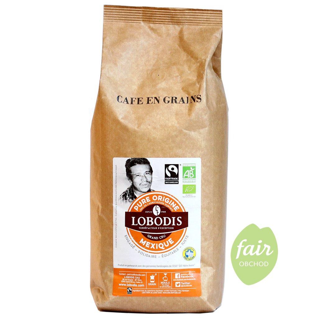fairtrade bio zrnkova kava mexiko 1000g
