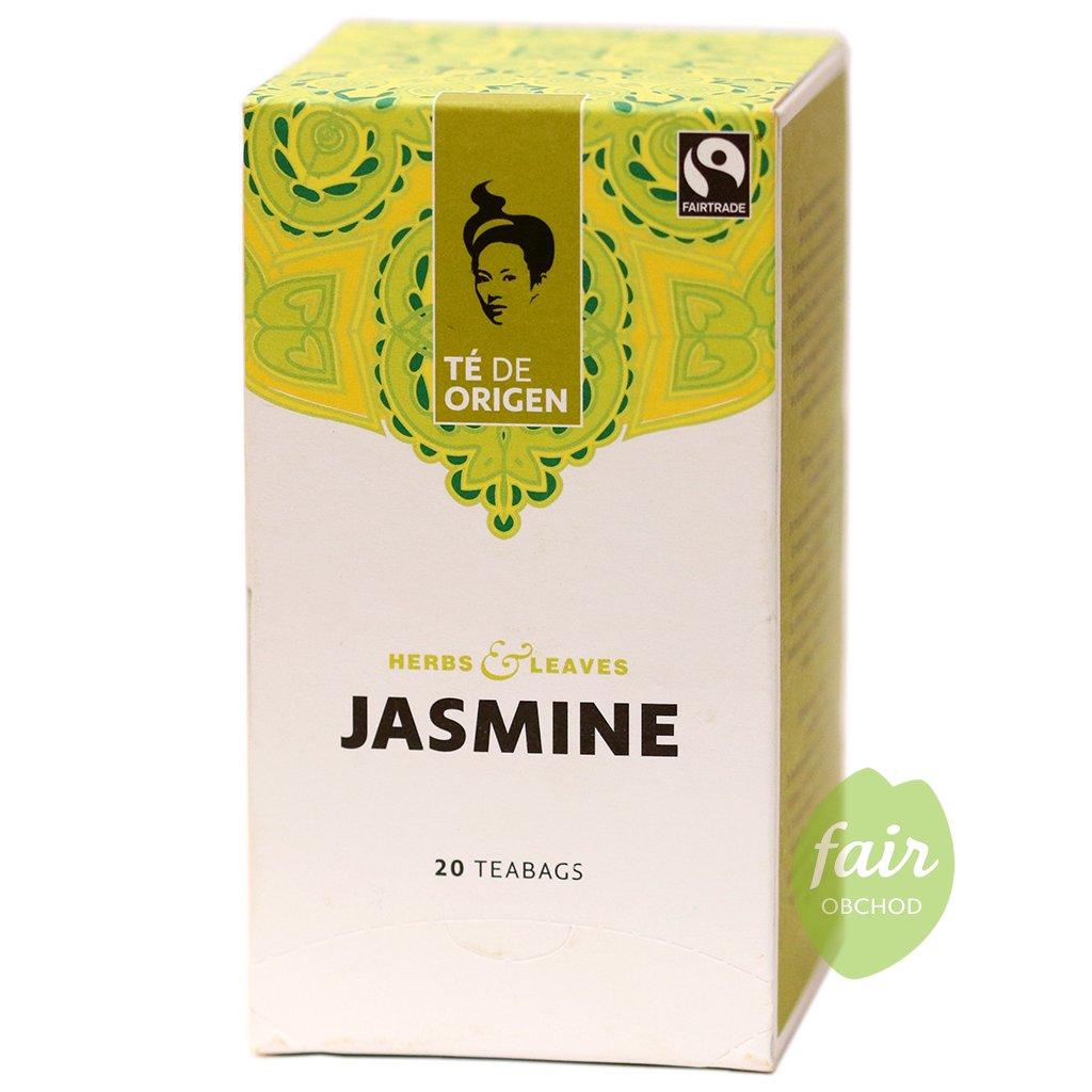 fairtrade bio zeleny caj jasminovy porcovany 20x2