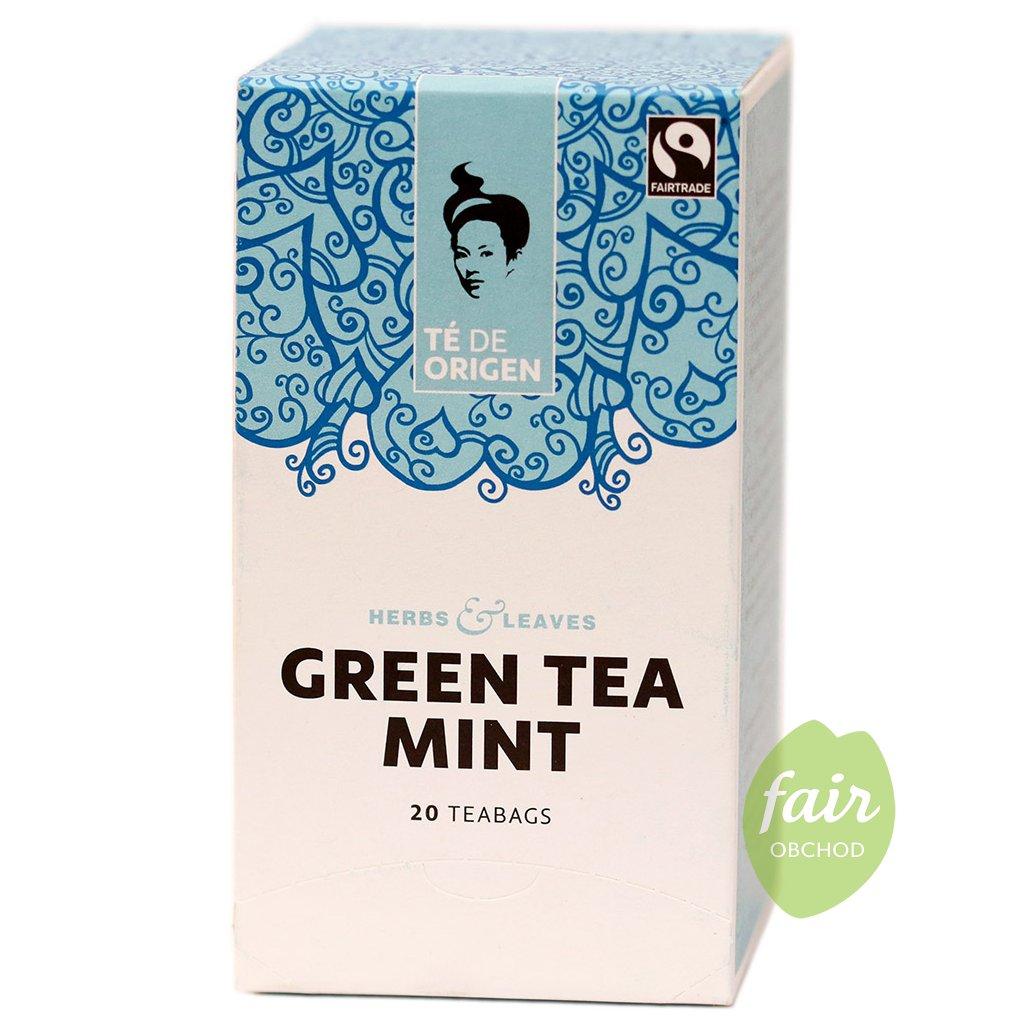 fairtrade bio zeleny caj s matou porcovany 20x2