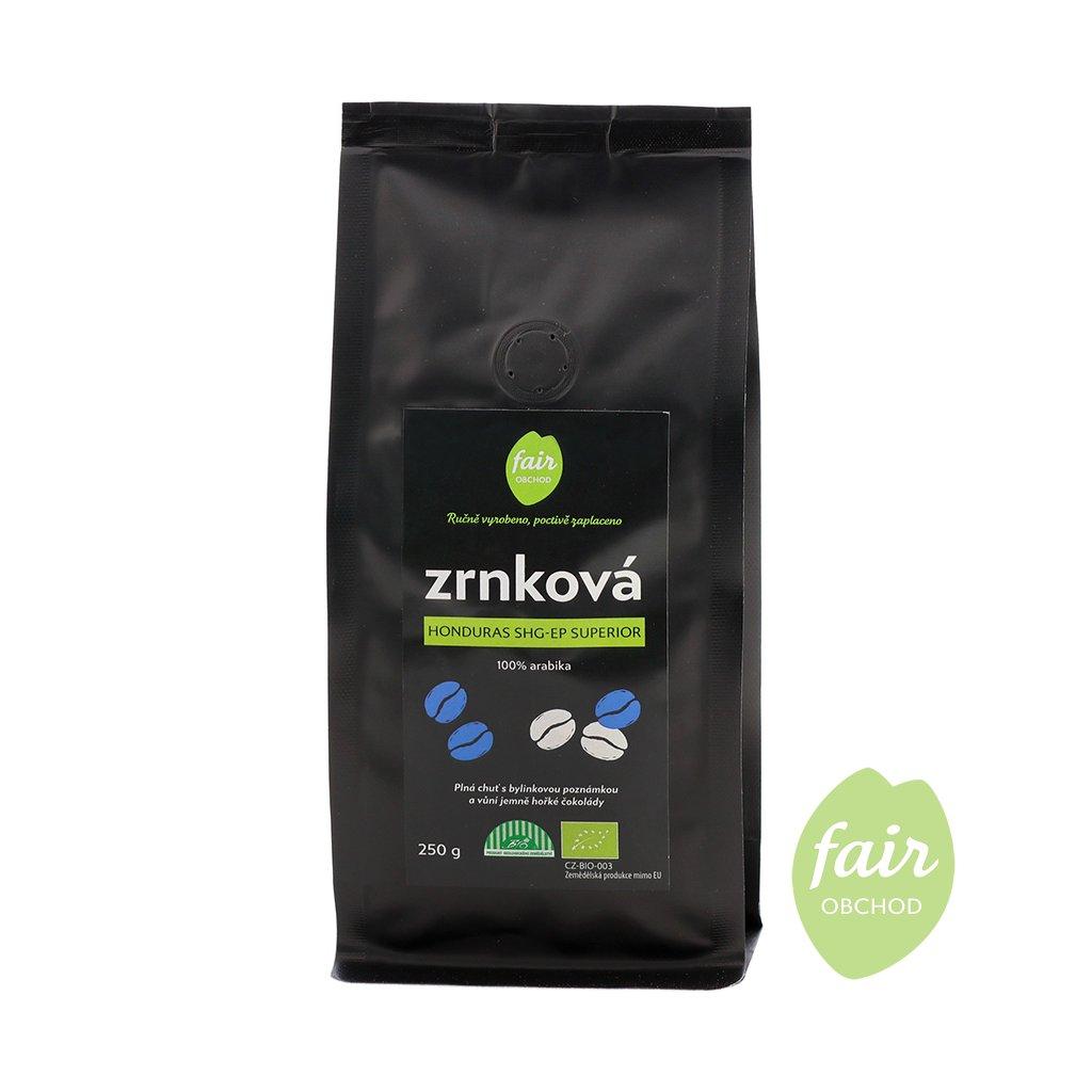 Fair trade bio zrnková káva Honduras SHG Superior arabica, 250 g