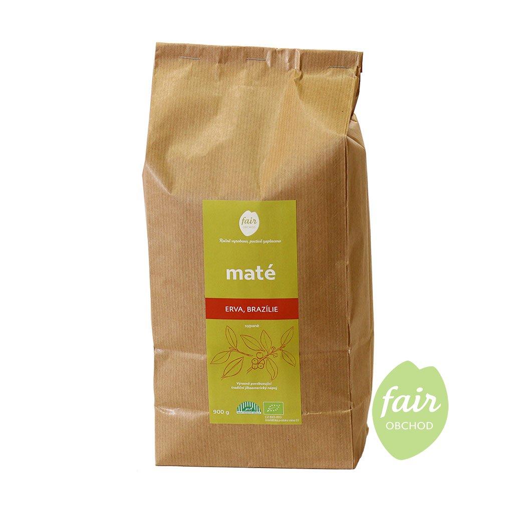 Fair trade erva yerba bio maté sypané z Brazílie, 900 g