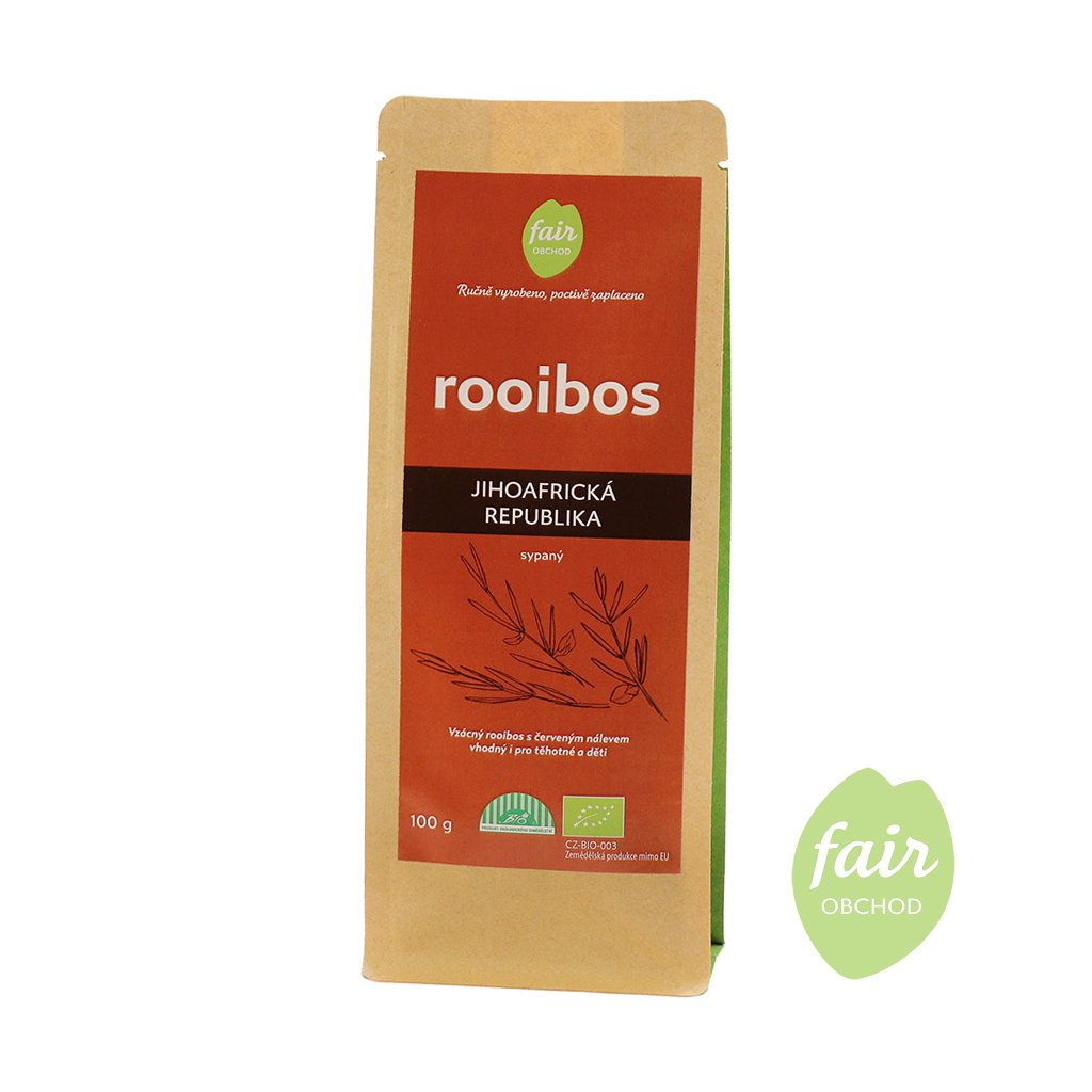 Fair trade bio rooibos sypaný z JAR, 100 g