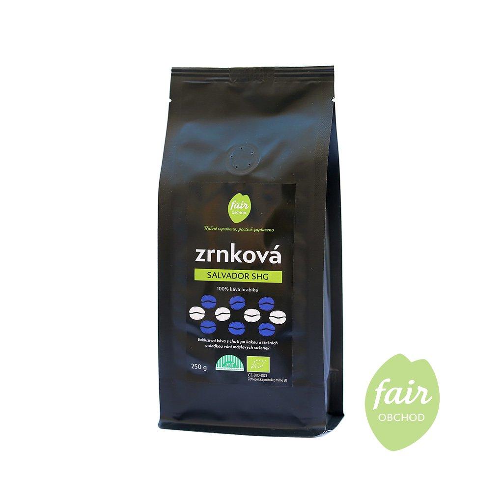 Fair trade bio zrnková káva Salvador SHG, 250 g