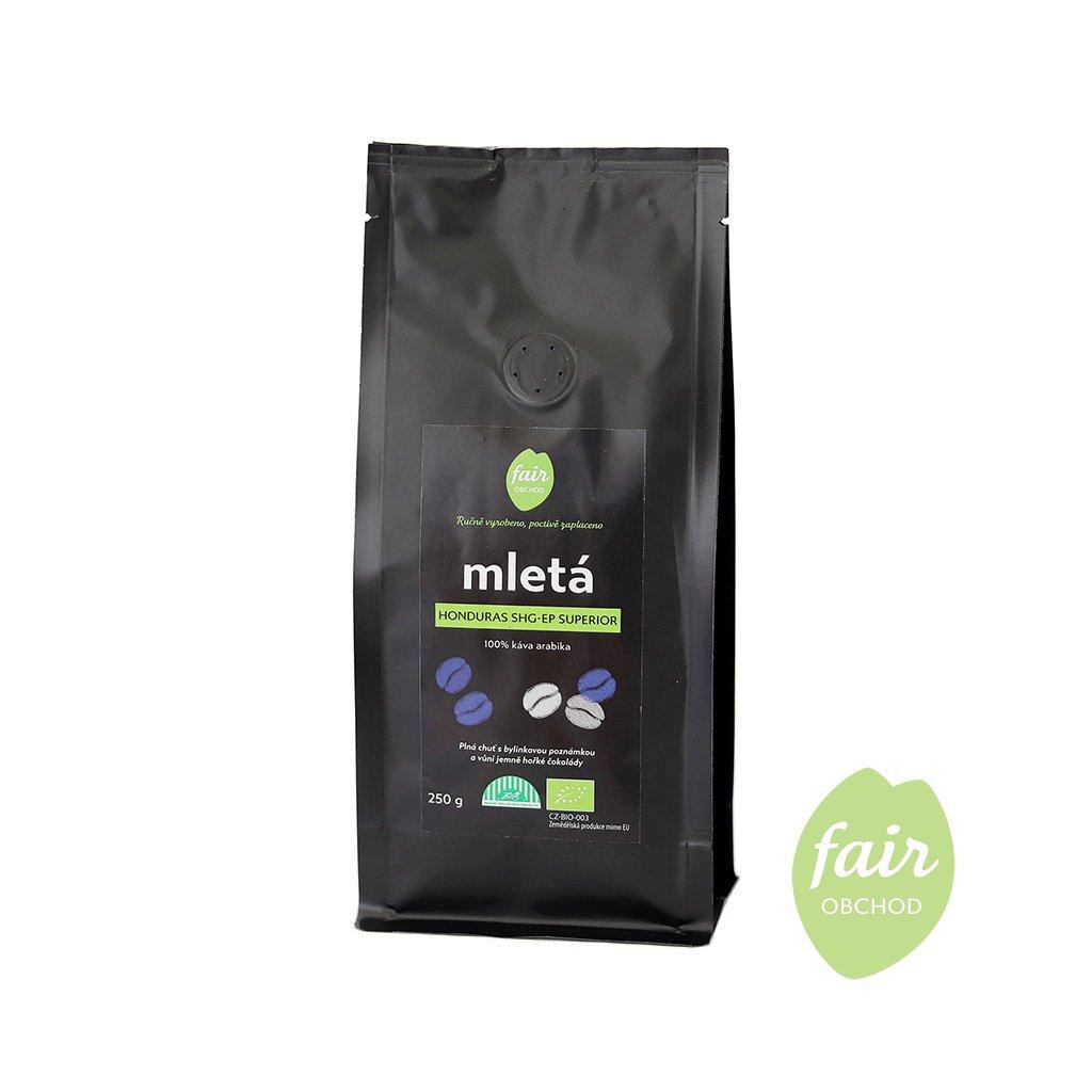 Fair trade bio mletá káva Honduras SHG Superior, 250 g