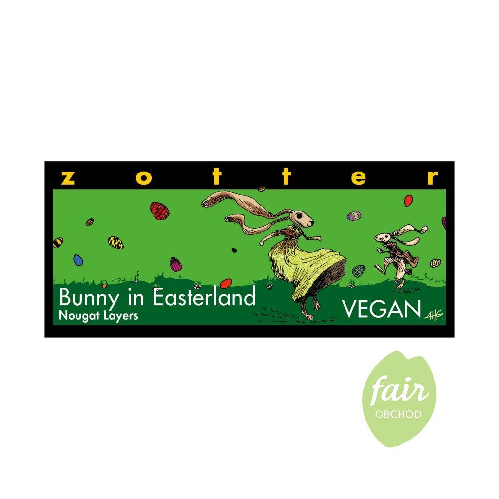 Fair Trade Bio hořká čokoláda Zajíček ve velikonoční zemi