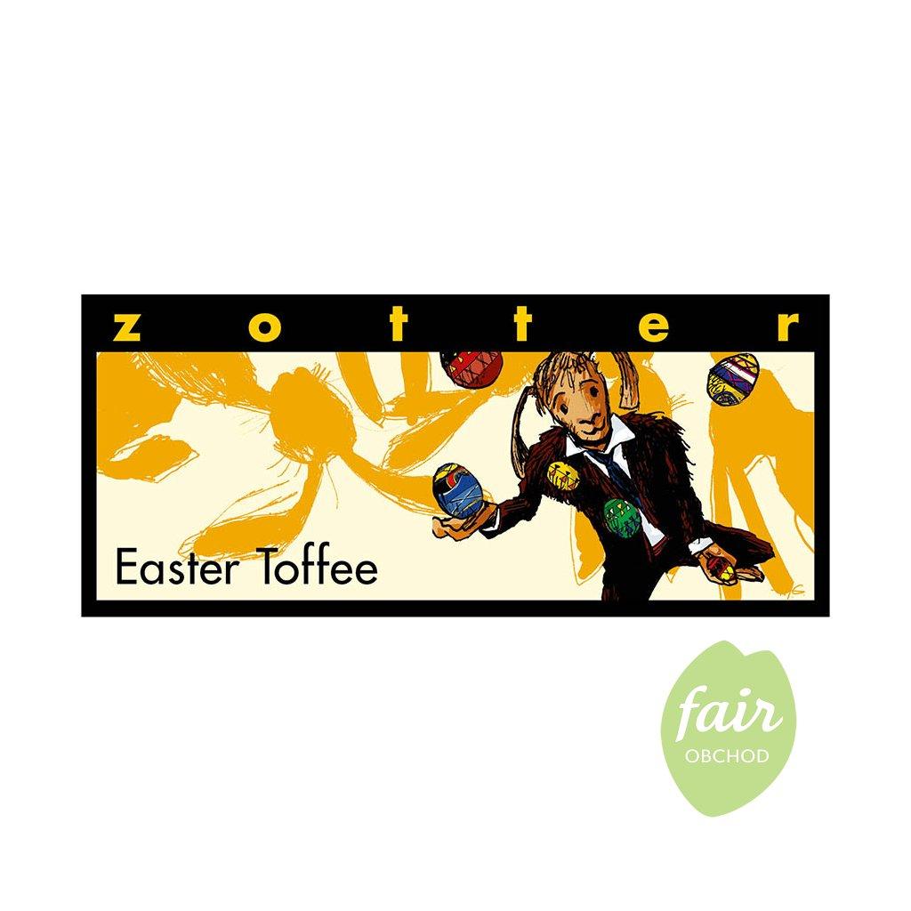Fair trade bio kávová velikonoční čokoláda Zotter Toffee
