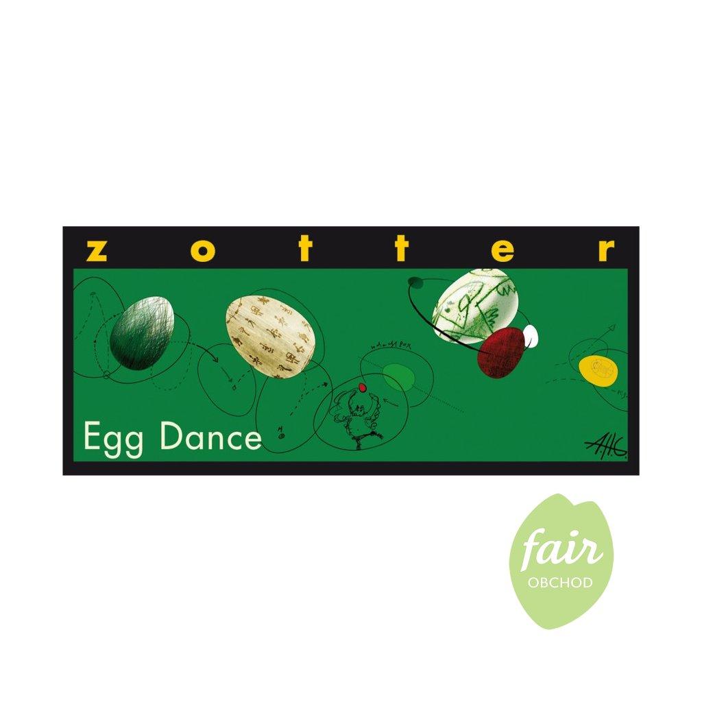 Fair Trade Bio mléčná čokoláda Roztančená vejce