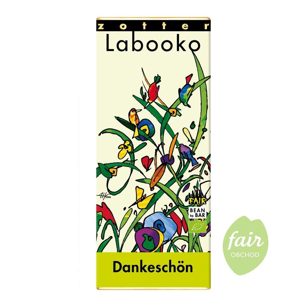 Fair trade bio čokoláda Zotter Děkuji, 70 g