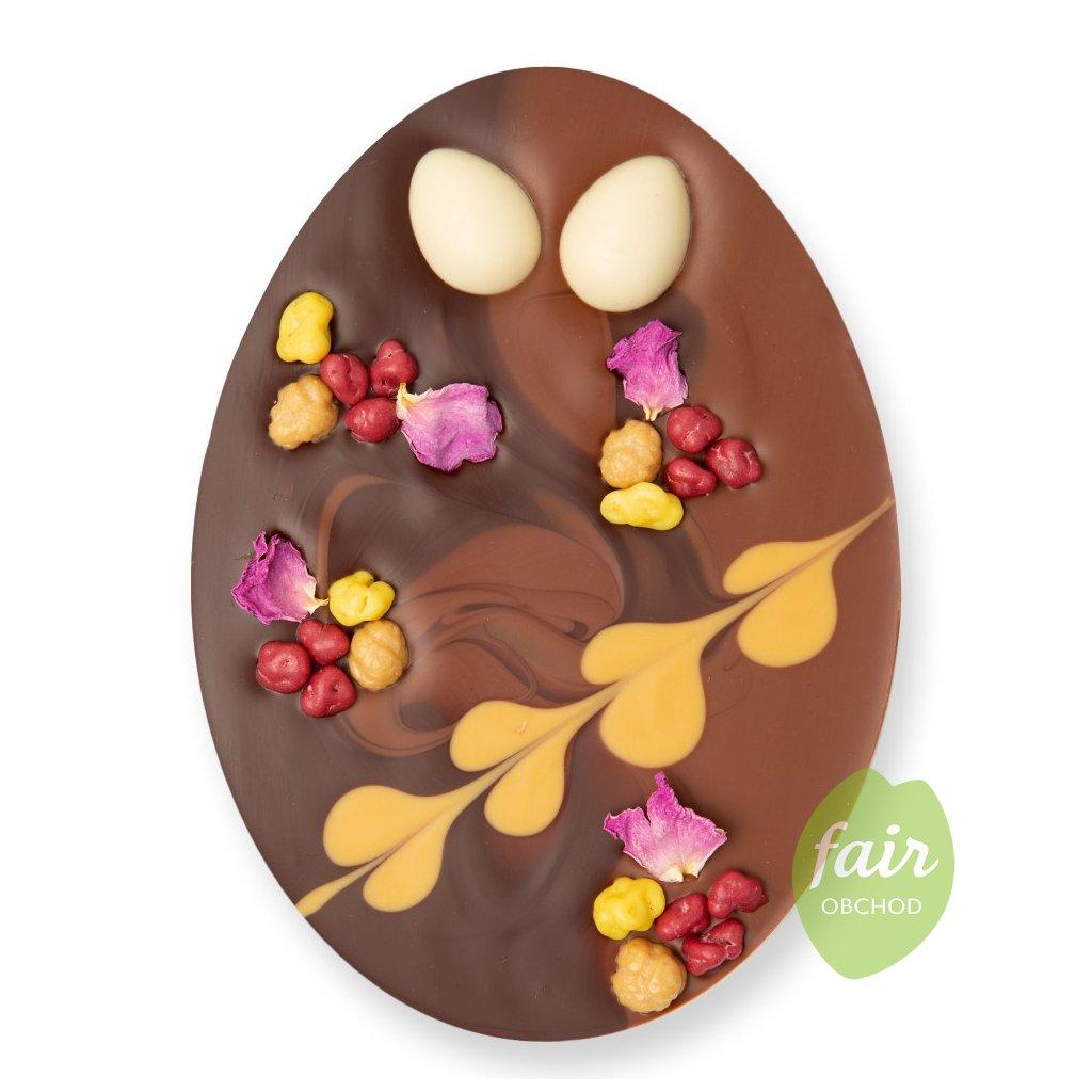 Fair trade bio velikonoční vajíčko Zotter z hořké a mléčné čokolády, 100 g