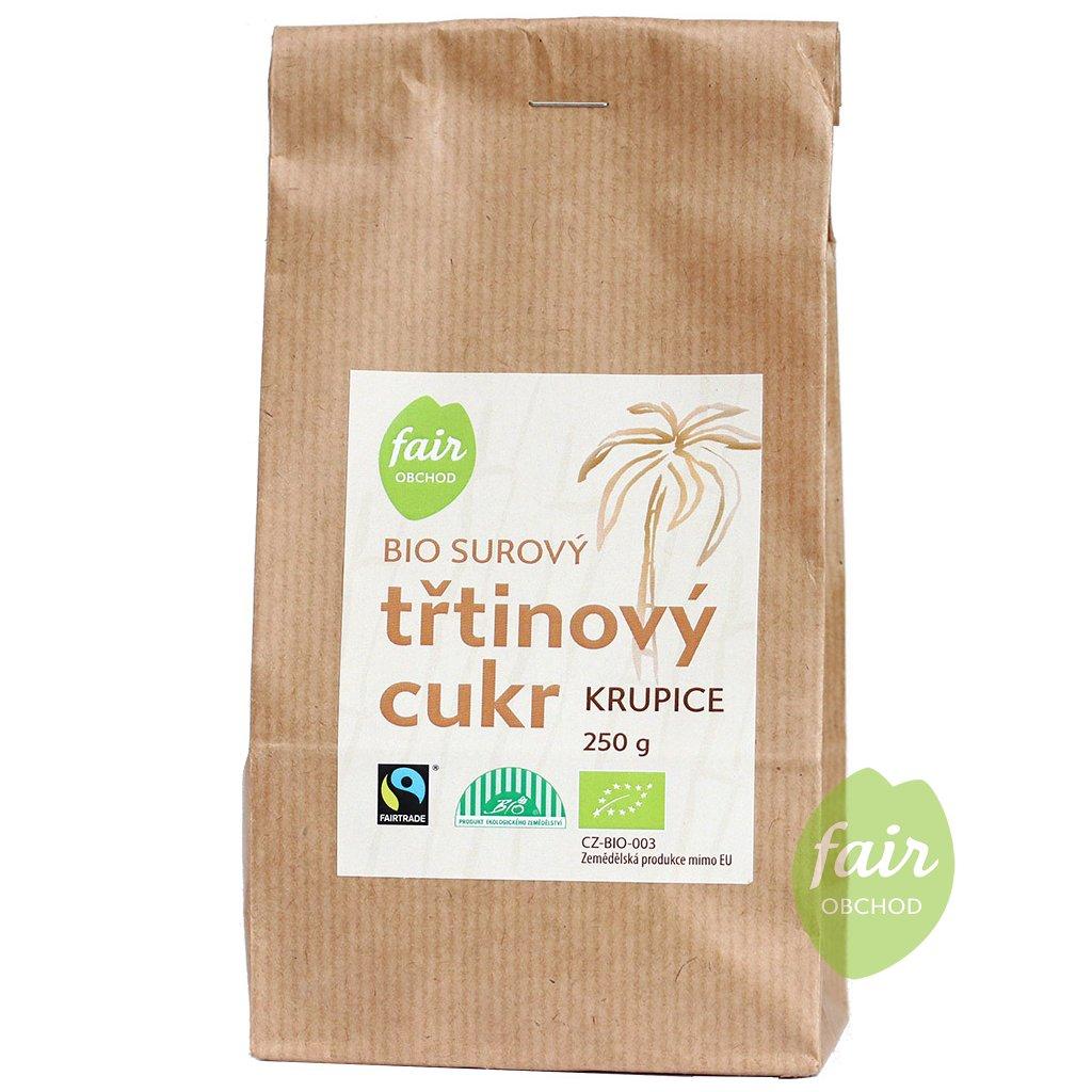 bio fairtrade trtinovy cukr 250g